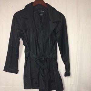 Outer Edge black Medium rain coat